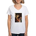 Madonna-Aussie Shep #4 Women's V-Neck T-Shirt