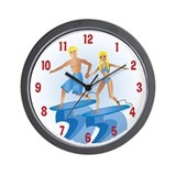 Surfer Babe/Dude Blonde Wall Clock