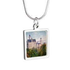 neuschwanstein square Silver Square Necklace