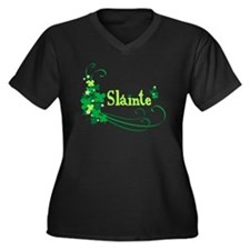 Sláinte Women's Plus Size V-Neck Dark T-Shirt