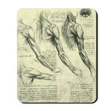 Male Anatomy by Leonardo da Vinci Mousepad