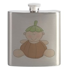 cute baby pumpkin kid Flask