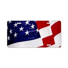 U.S. Flag Aluminum License Plate
