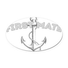 First Mate DARK Oval Car Magnet