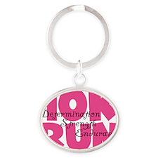 10K Run Pink Oval Keychain