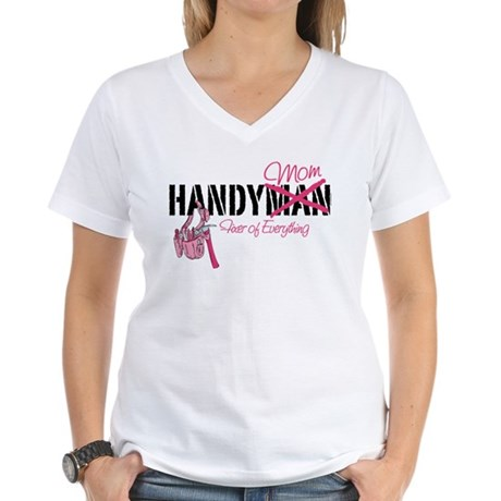 Handy Mom Women's V-Neck T-Shirt