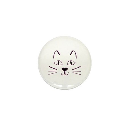 Purple Kitty Mini Button (100 pack)
