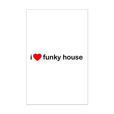 I Heart Funky House Mini Poster Print