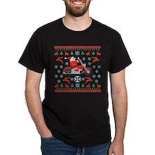 Santa Biker Sweater Tee T-Shirt