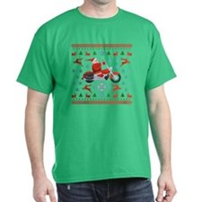 Santa Biker Sweater Tee T-Shirt