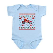 Santa Biker Sweater Tee Infant Bodysuit