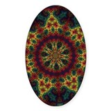 Tie Dye Art Oval Decal