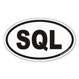 SQL Euro Oval Decal