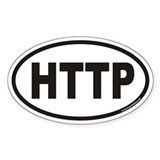 HTTP Euro Oval Decal