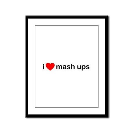 I Heart Mash Ups Framed Panel Print