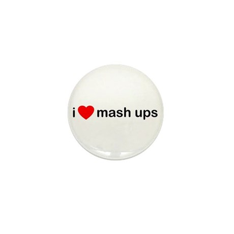 I Heart Mash Ups Mini Button (10 pack)