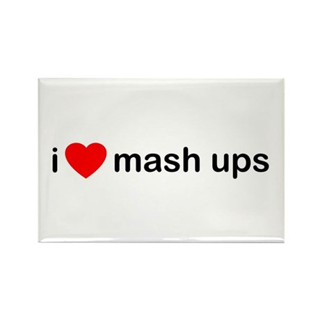 I Heart Mash Ups Rectangle Magnet (100 pack)