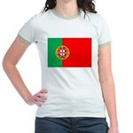 Portuguese Flag of Portugal Jr. Ringer T-Shirt