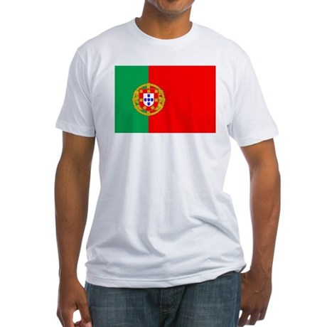 Portuguese Flag of Portugal Fitted T-Shirt