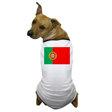 Portuguese Flag of Portugal Dog T-Shirt