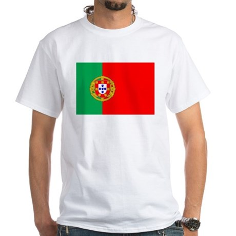 Portuguese Flag of Portugal White T-Shirt