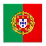 Portuguese Flag of Portugal Tile Coaster