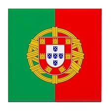 Portuguese Flag of Portugal Tile Coaster
