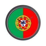Portuguese Flag of Portugal Wall Clock