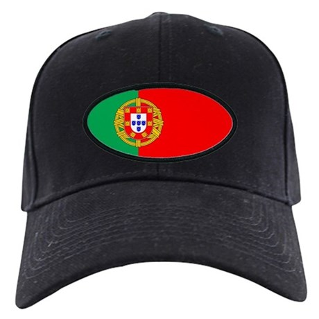 Portuguese Flag of Portugal Black Cap