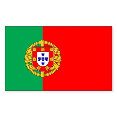 Portuguese Flag of Portugal Rectangle Sticker