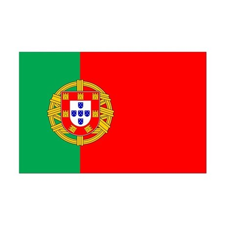 Portuguese Flag of Portugal Mini Poster Print