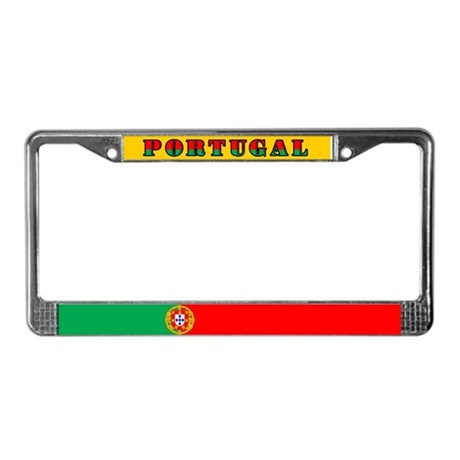Portuguese Flag of Portugal License Plate Frame