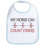 My Horse Can Count Strides Bib