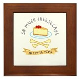Cheesecake Lover Framed Tile