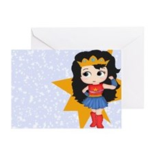 Super Girl Super Hero Greeting Card