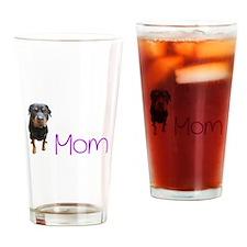 Cute Rottweiler Drinking Glass