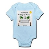 Grandpa's Volleyball Buddy  Baby Onesie