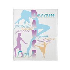 Dream Dance Love Throw Blanket