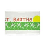 St. Barths Rectangle Magnet