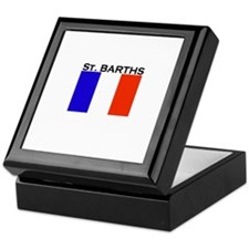 St. Barths Flag Keepsake Box