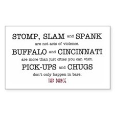 Stomp, Slam & Spank Rectangle Decal