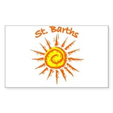 St. Barths Rectangle Decal