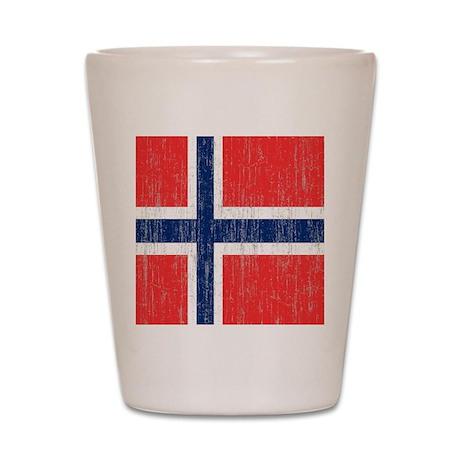 Vintage Norway Flag Shot Glass