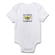 St. Croix, USVI Flag Infant Bodysuit