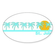 St. John, USVI Oval Decal