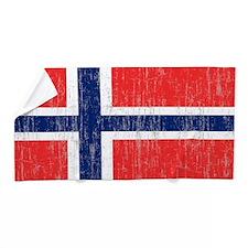Vintage Norway Flag 5 feet by 7 feet r Beach Towel