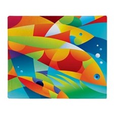Abstract Fish Throw Blanket