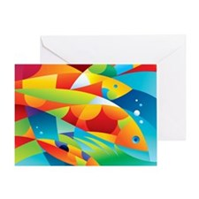 Abstract Fish Greeting Card