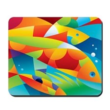 Abstract Fish Mousepad