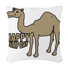 Camel  hump day Woven Throw Pillow